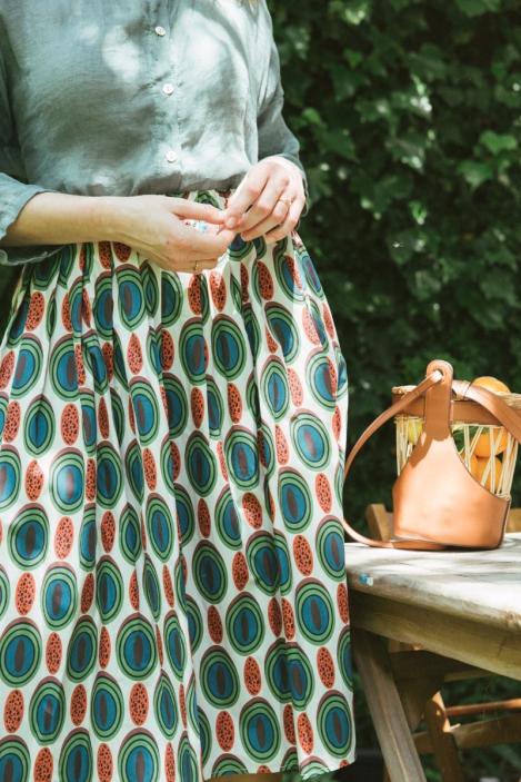 Pleated skirt - CORNALINE