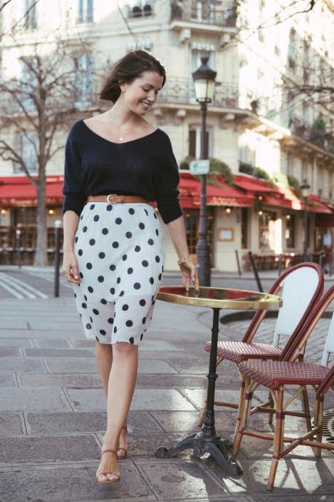 Pleated skirt - AZURITE
