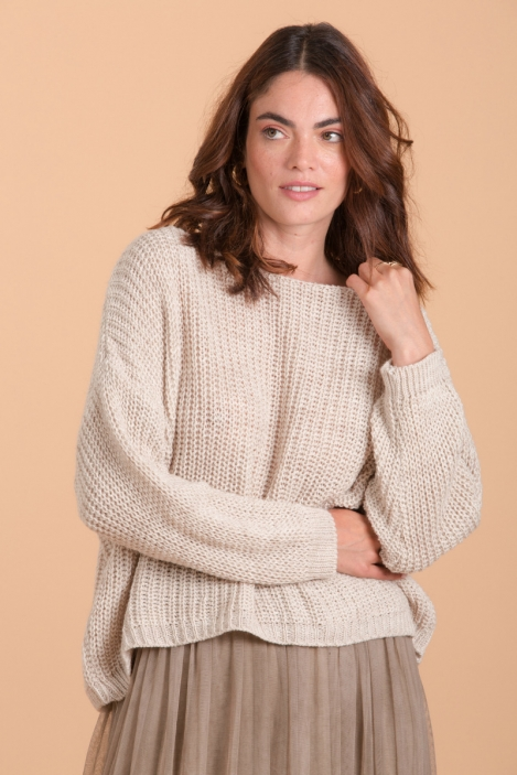 Extra wide short sweater - OKLAHOMA