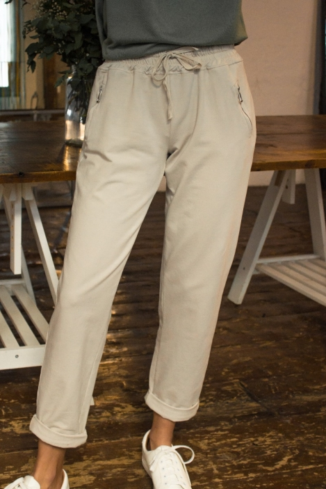 Pantalon jogging - BRUNE-Écru