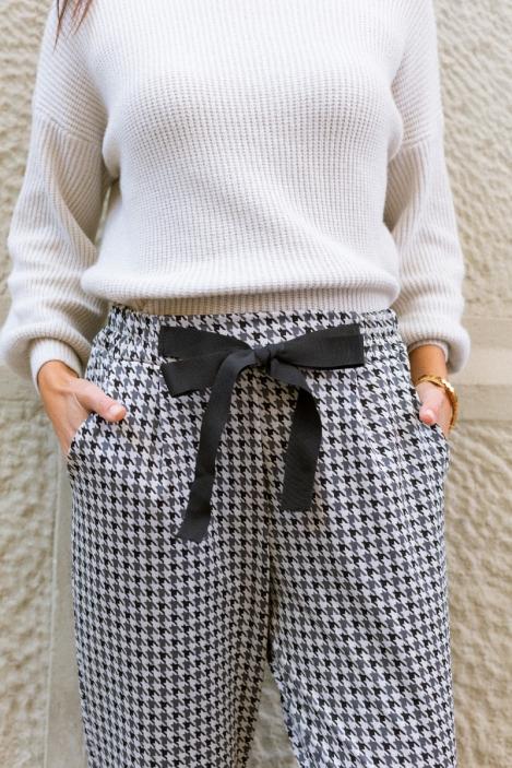 Pantalon Pied de Coq - SIENNE-Beige