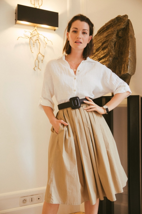 Pleated skirt - STIBINE