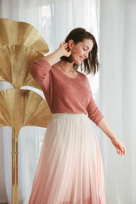 Pleated skirt - CALCITE